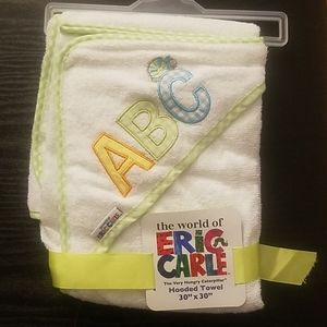 """The world of Eric Carle Hooded Towel 30""""x30"""" NWOT"""